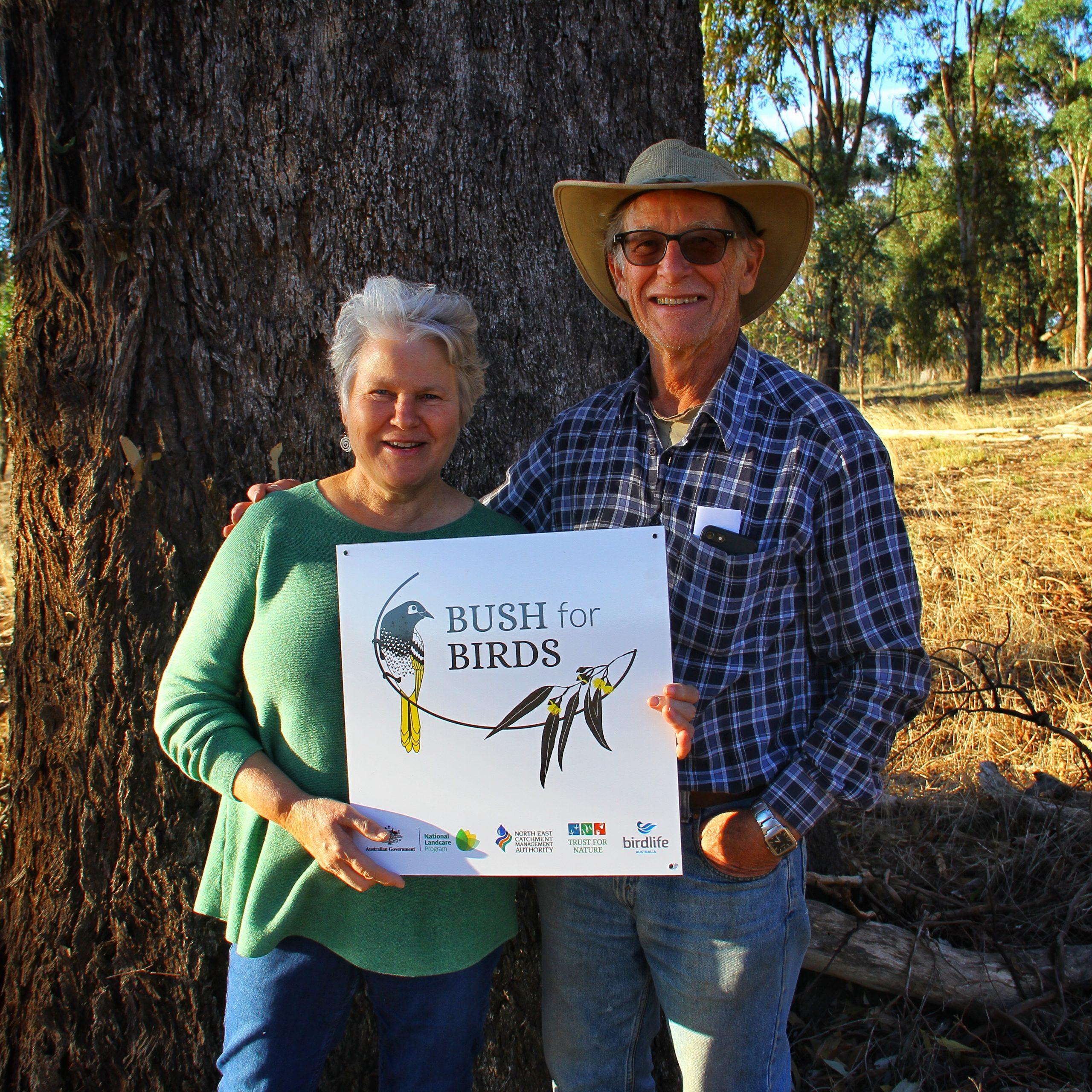 Landholders Leonie and Peter Brien